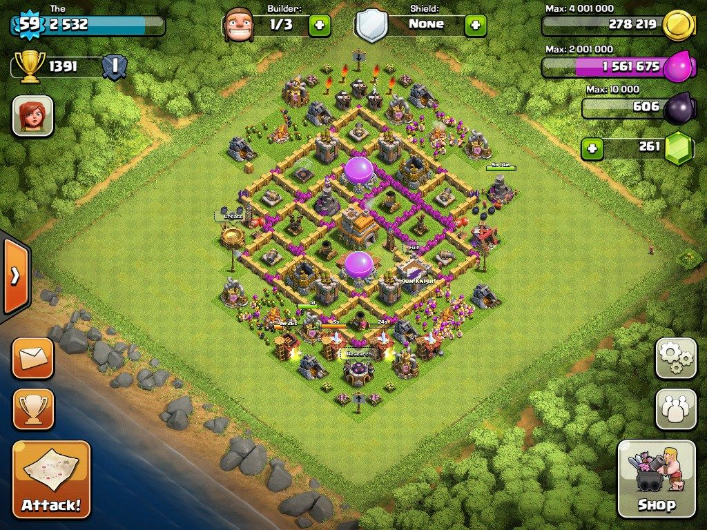 Town Hall 7 Defense Base Design 10 Clash Of Clans Clash Of Clans Hack Clan