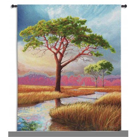 FineArtTapestries 5675-WH Daybreak On The Marsh Wall Tapestry, Multicolor