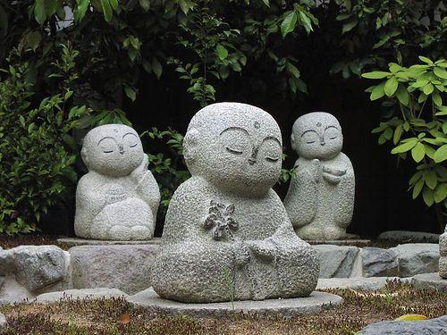 Jizo Sama   Baby Buddha Statues In Tokyo Japan