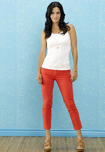 Cougartown  STYLE PROFILE  Jules Cobb (Courteney Cox) is a true cougar in cropped denim, not tacky leopard print.