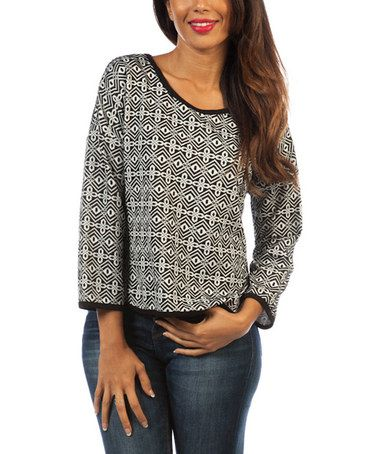 Love this Gray Tribal Top on #zulily! #zulilyfinds