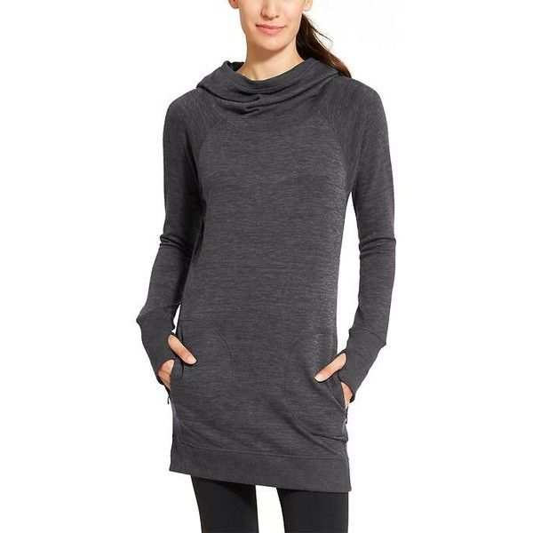 b97b842beed5e Athleta Women Blissful Hoodie Dress ( 98) ❤ liked on Polyvore featuring  dresses