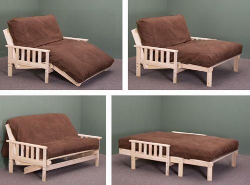 Trifold Wooden Futon Frame Google Search Diy Futon Futon Bed