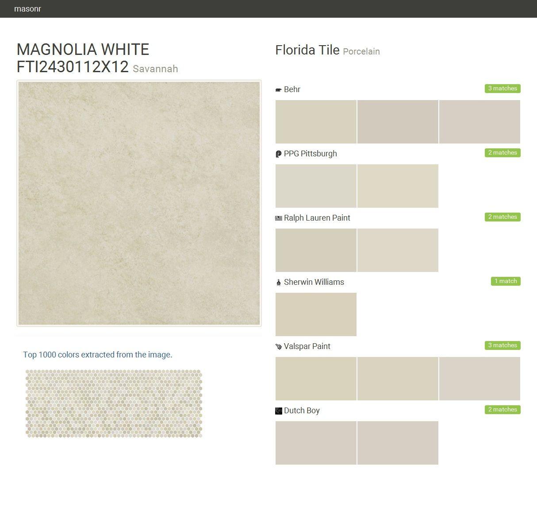 Magnolia white fti2430112x12 savannah porcelain florida for Behr pro paint