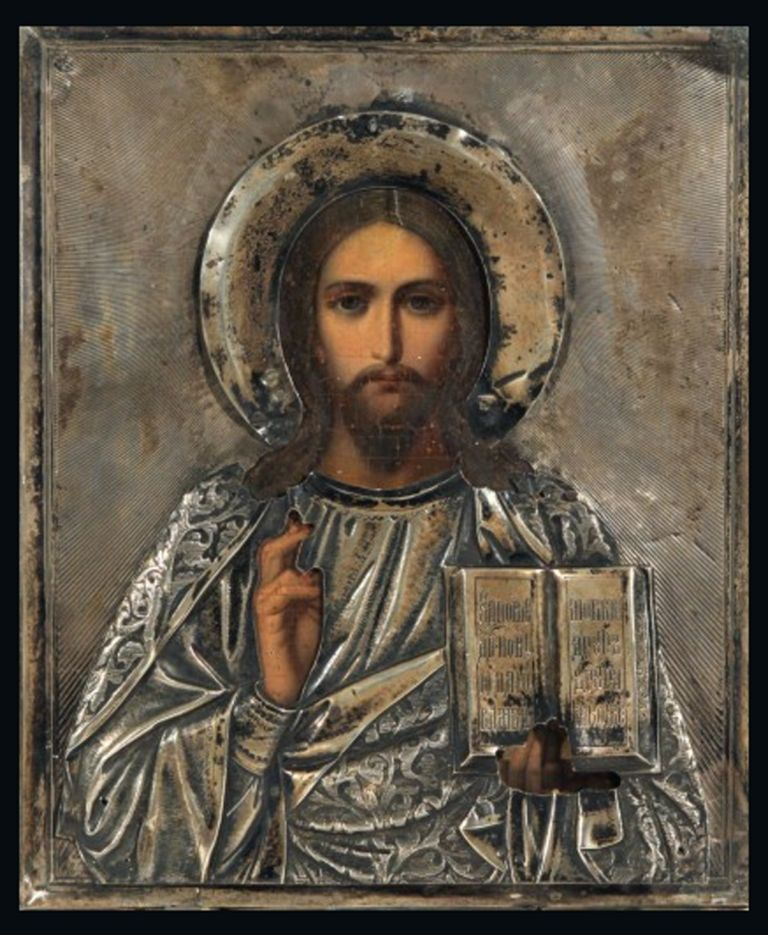 Russian Icon Of Christ Pantocrator Circa 1908 Art Print Painting Russian Icons Christ Pantocrator Art Day