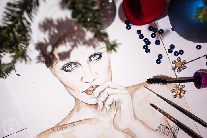 Fashion watercolor illustration by Dudyshkina Ekaterina ...