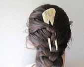 Deer Antler Hairsticks Carved Bone Horn Native American Tribal Reenactment Hair Accessory