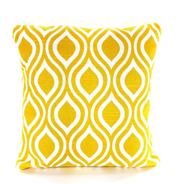 Yellow Decorative Throw Pillow Covers Cushions Corn Yellow White Classy Yellow Decorative Bed Pillows