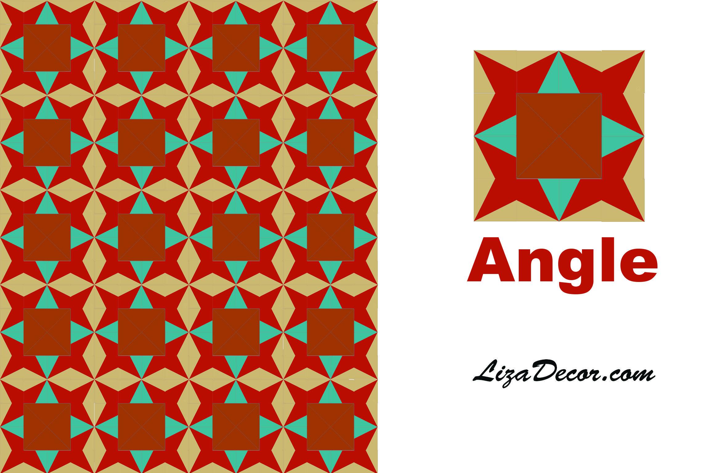 Patchwork tutorial Angle Patchworkové vzory LizaDecor