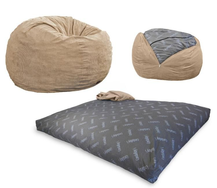 Beautiful Bean Bag Chair that Turns Into A Bed
