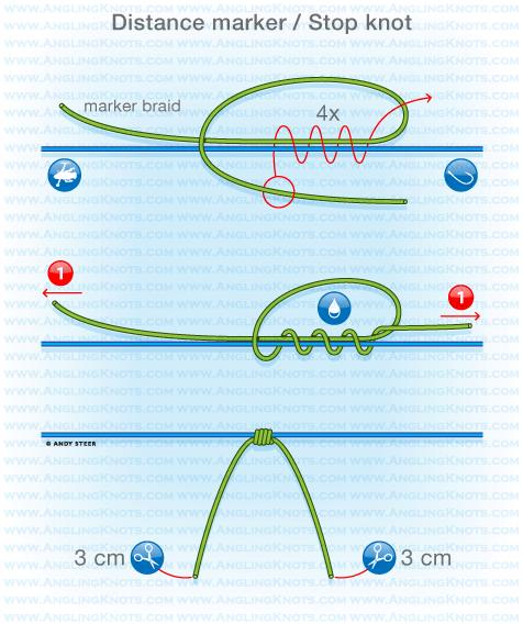 Carp fishing knots distance marker stop knot carp for Fishing line knots