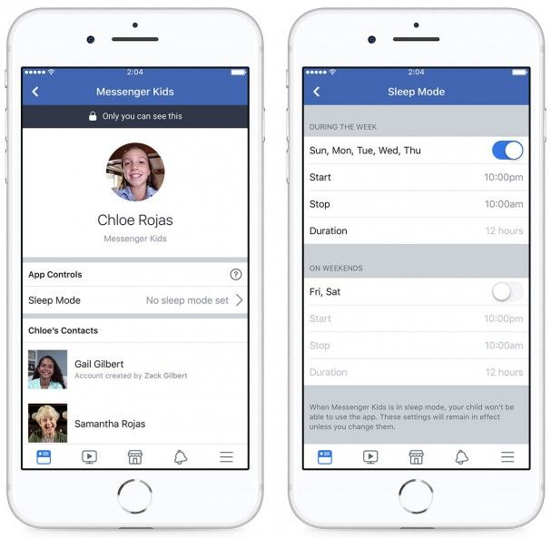 Facebook Adds Sleep Mode to Messenger Kids for More