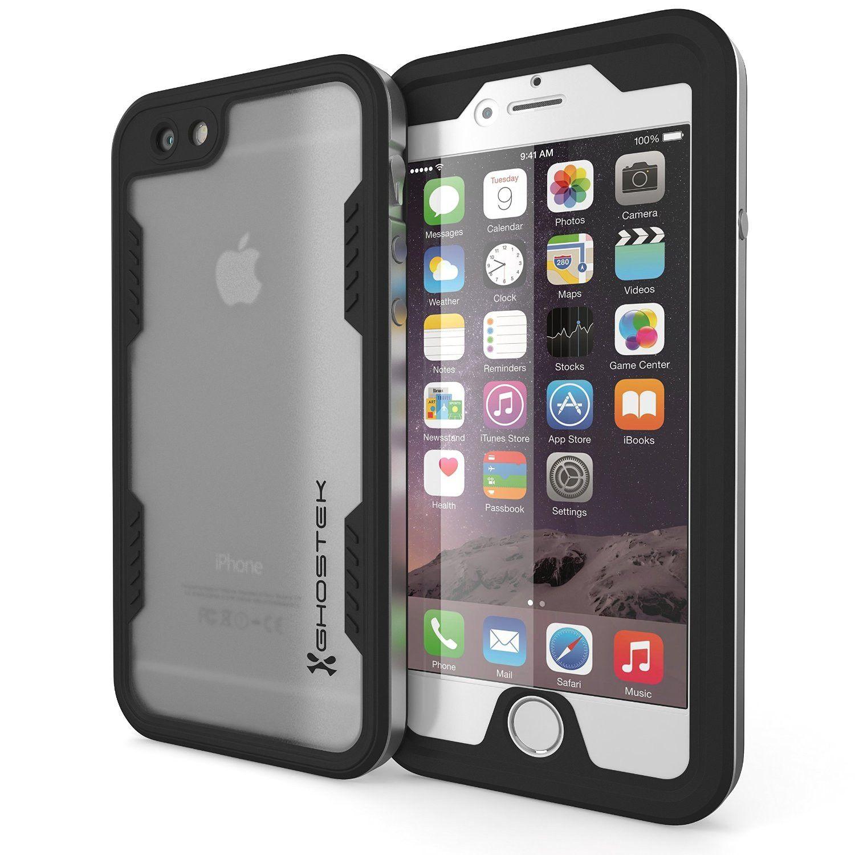 iPhone 6 6S Waterproof Case Ghostek Atomic 2 0 Silver Apple W Attached Screen Protector Slim Fitted Waterproof Super thin metal frame GHOCAS283