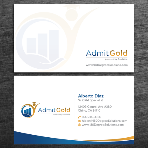 Software Reseller Is In Need Of A Sharp Looking Business Card We Offer Educational Institution A Business Card Design Education Logo Wordpress Theme Responsive