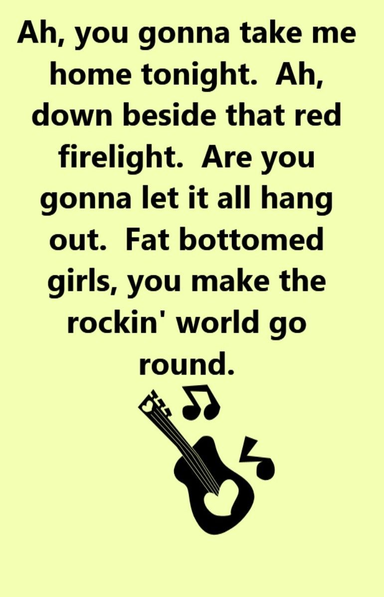 Song fat bottomed girls