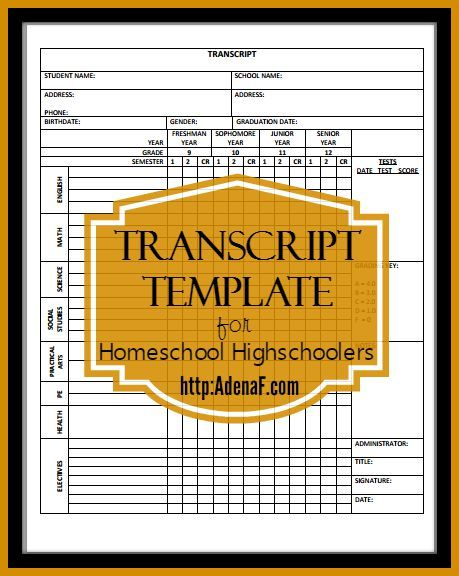 Homeschooling High School: Transcripts and Portfolios | Pinterest