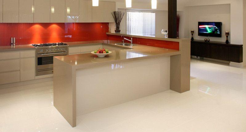 Modern Kitchen Showrooms orange feature wall? | kitchen | pinterest | brisbane, kitchen