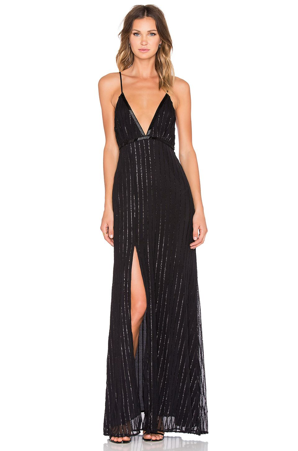 The jetset diaries notte maxi dress in black round bmaid
