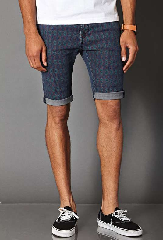Forever 21 | Tribal Print Denim Shorts | printed shorts #forever21 #lprinted #shorts
