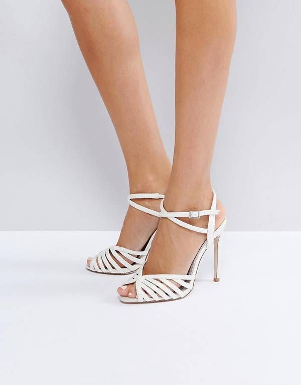 HONEYPIE Heeled Sandals - Nude metallic Asos BSEBGa4zXP