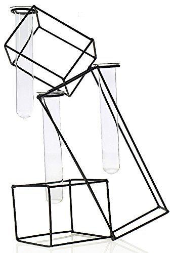 geometric trapezoid wire test tube vase 3 tubes wedding flowers Wire Metal geometric trapezoid wire test tube vase 3 tubes