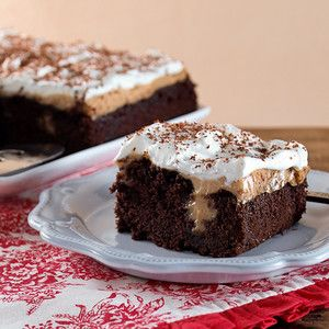 Chocolate Peanut Butter Poke Cake
