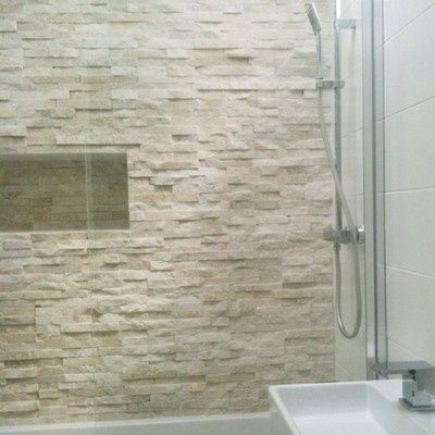 30 Inspiring Accent Wall Ideas To Change An Area Stone Shower Walls Stone Feature Wall Tile Bathroom