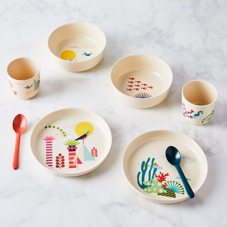 Recycled Bamboo Kids Dinnerware Set Of 4 In 2020 Kids Dinnerware Kids Dinnerware Set Kids Tableware