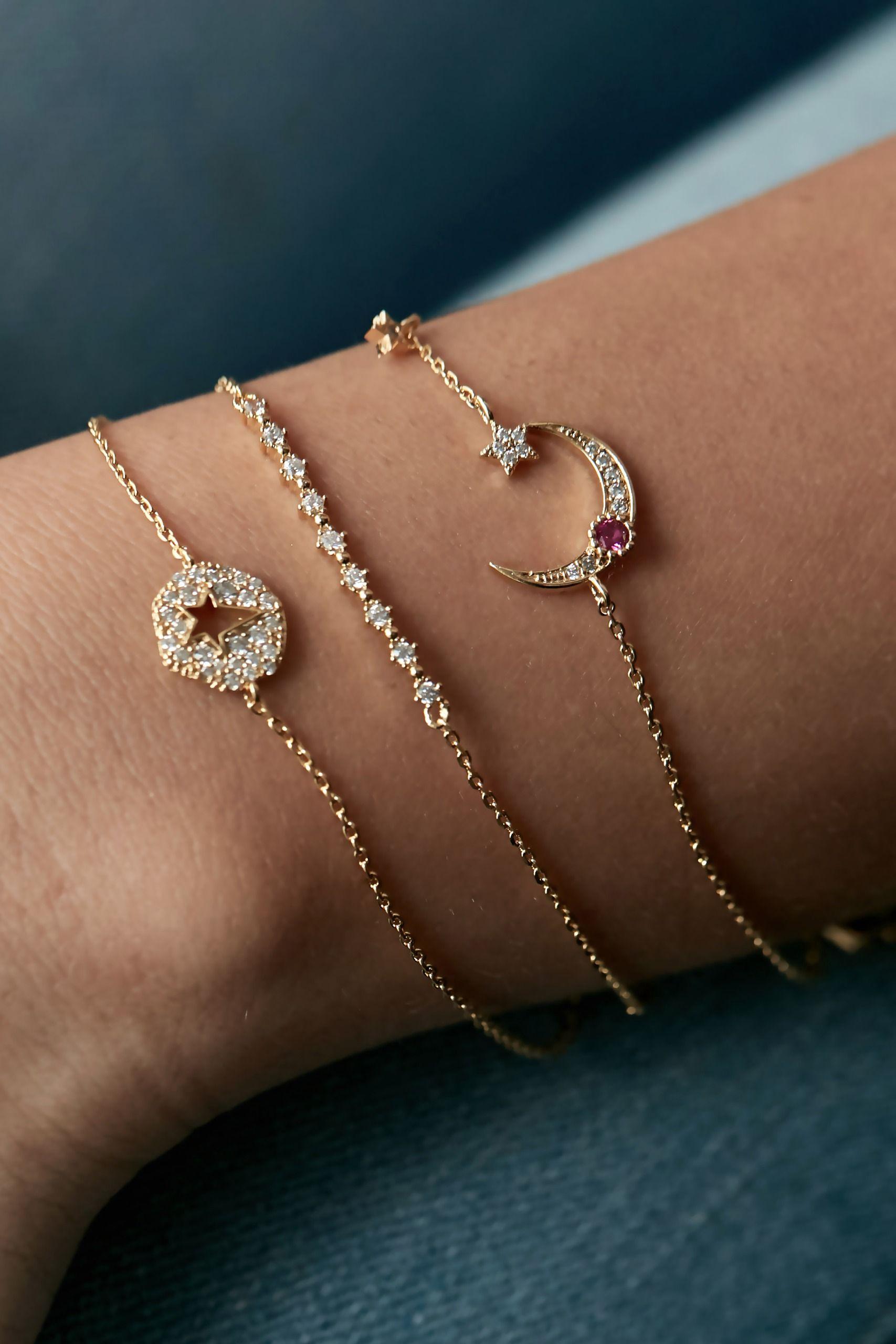 Kacy moon bracelet bracelets crescents and gold