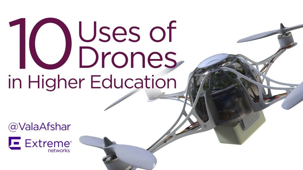 10 Uses of Drones in Higher Education by Extreme Networks via slideshare |  Drone, Higher education, Aerial photography drone