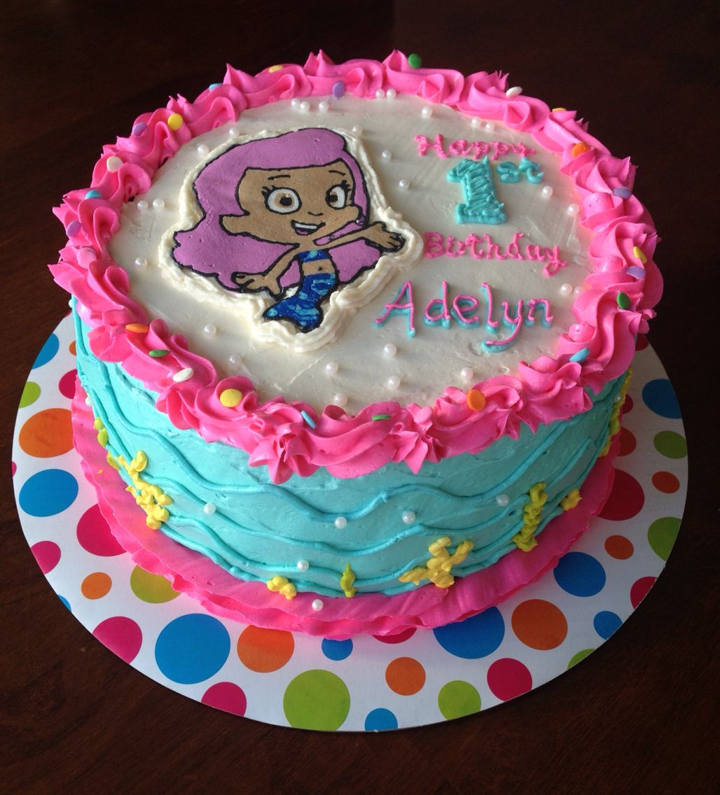 bubble guppies molly buttercream cake my own buttercream cakes