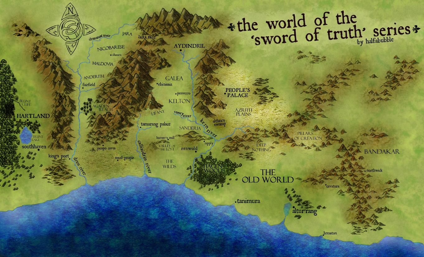 The world of the sword of truth | Sword of truth, Sword ... on