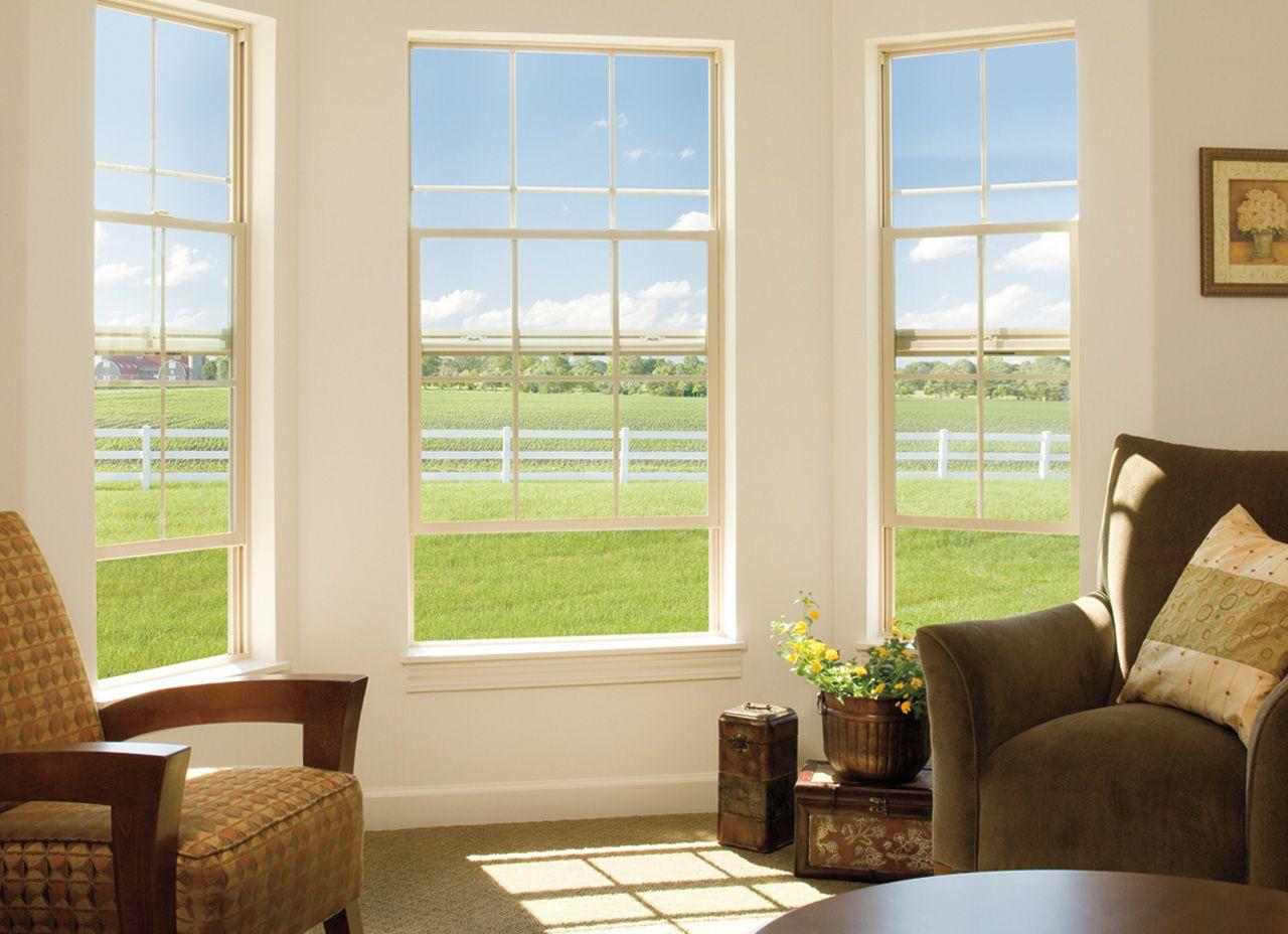 Transitional Living Room Encompass By Pella 174 Single Hung