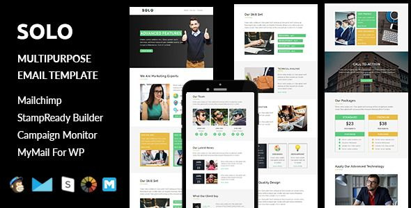 nice Solo - Multipurpose Responsive E-mail Template + Stampready Builder (E-mail Templates)