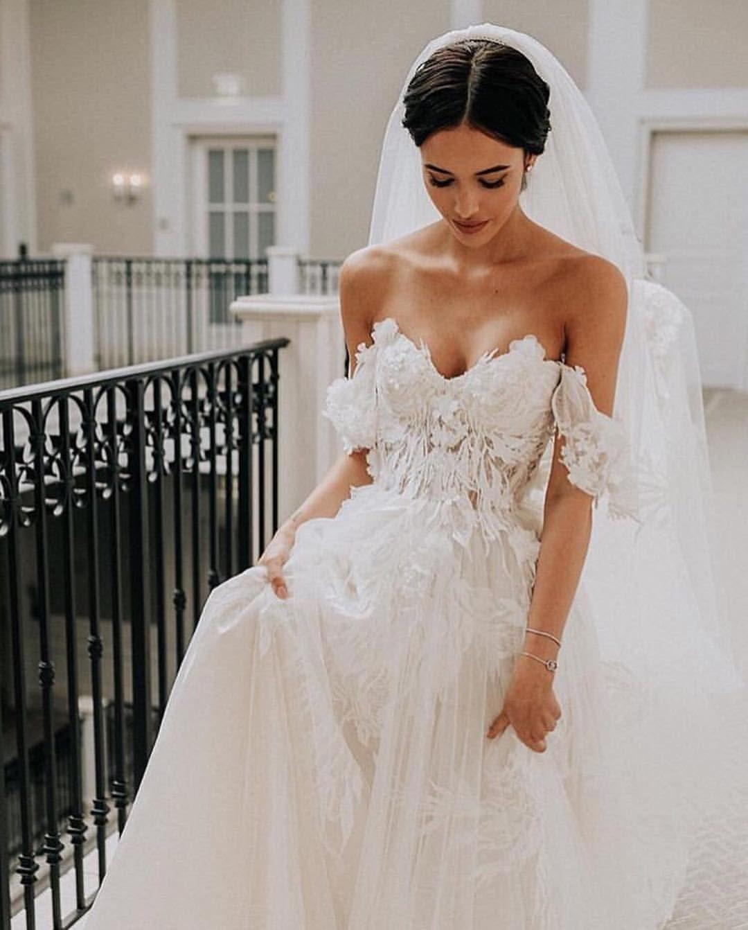 902 Likes 9 Comments Wedding Diary Weddingpeace On Instagram Absolutely Stunni Wedding Dress Train Sweep Train Wedding Dress Wedding Dresses 3d Flowers [ 1342 x 1080 Pixel ]