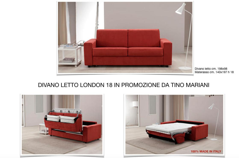 Promozione divano letto materasso alto cm. 18 (con