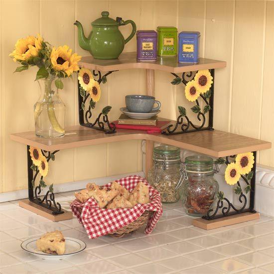 Giros y girasoles muebles con girasoles herreria for Decoraciones rusticas para el hogar