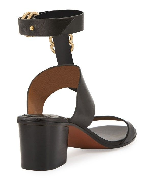 ced24744cc71 Chloe - Kingsley Leather T-Strap Sandals