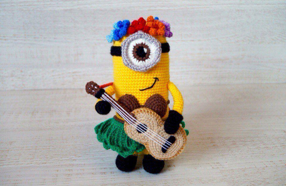 Hawaiian Minion crochet pattern | Gitarre und Häkeln