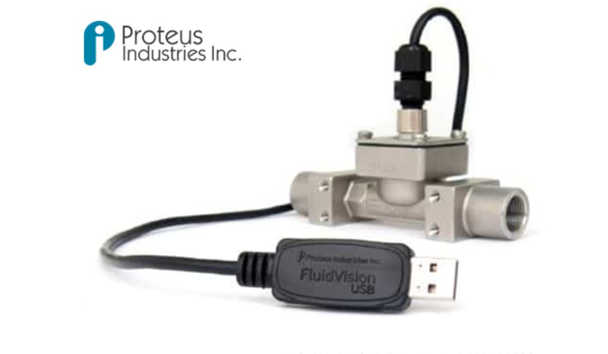 Fluidvision Usb Flow And Temperature Meters Proteus Industries Inc Usb Fluid Flow