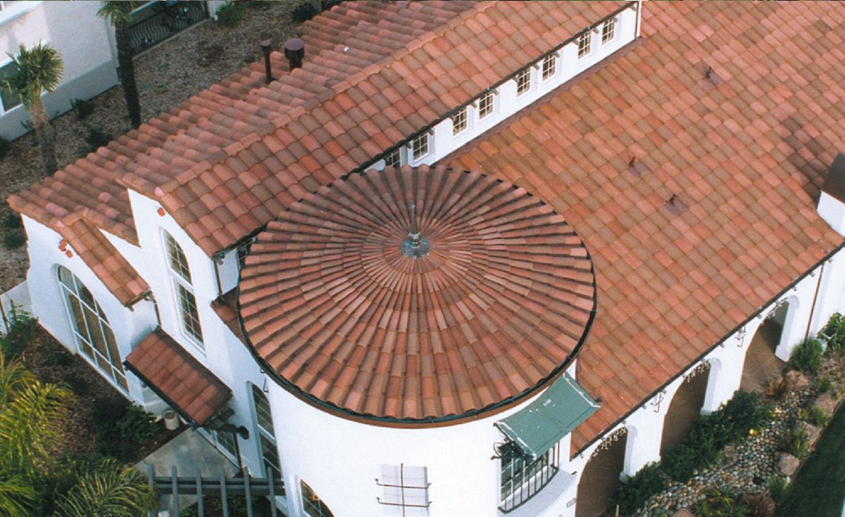 Gallery House roof, Cool roof, Clay roof tiles
