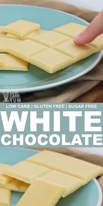 How to Make Sugar Free White Chocolate Bars #lowcarbyum