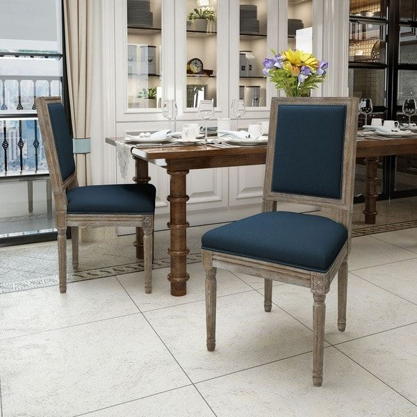 Ledger Traditional Fabric Dining Chair Set of 2 by Christopher