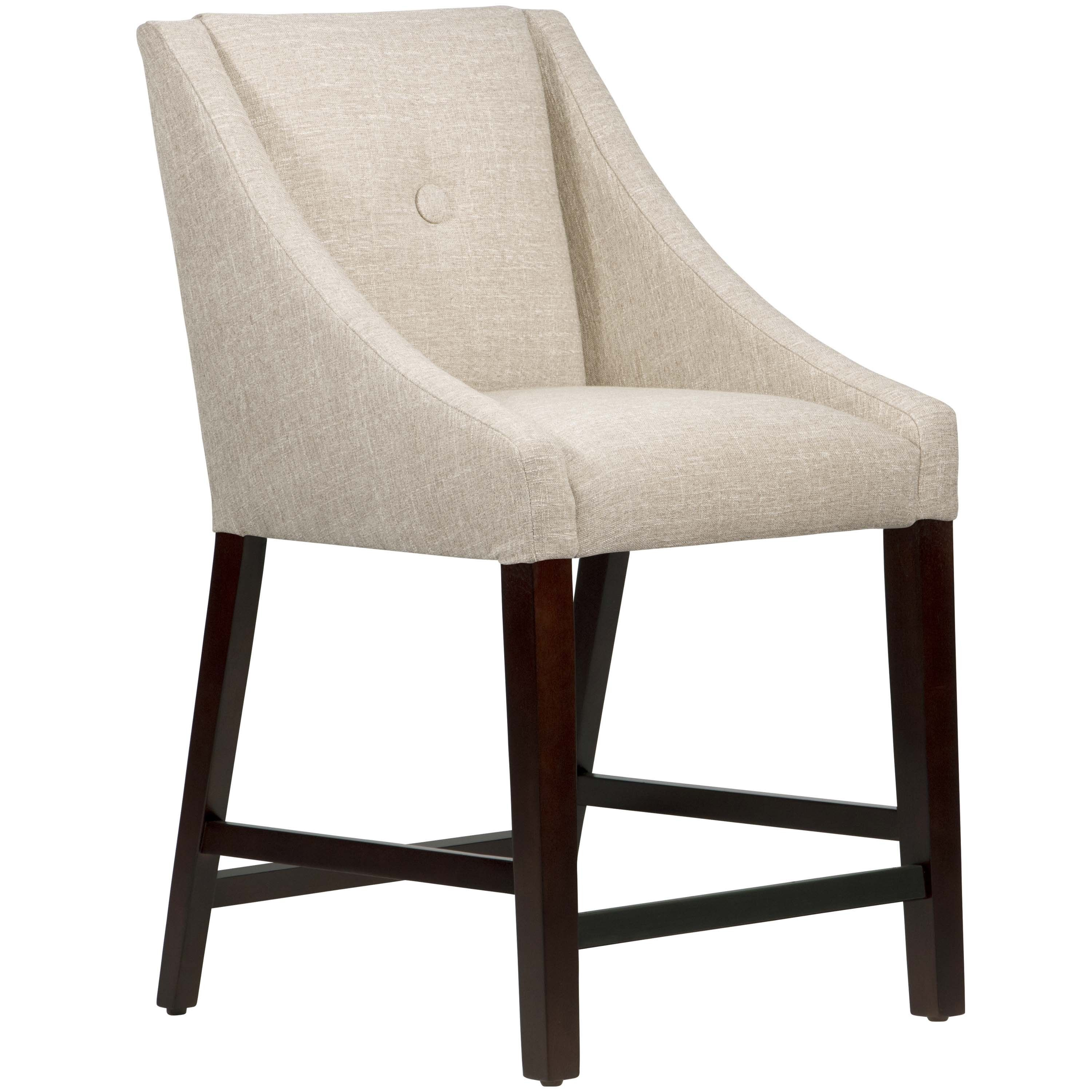 Skyline Furniture Hartley Moonstone Button Swoop Counter Stool
