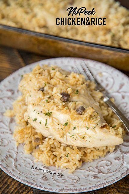 No-Peek Chicken  Rice  Recipe In 2019  Chicken Rice -8256