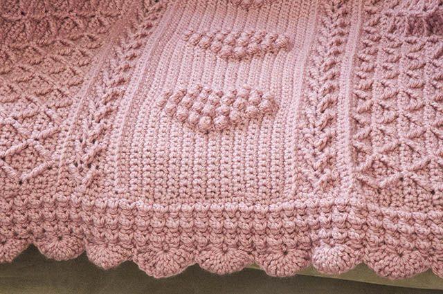 Crochet Aran Hearts Throw | Crochet afgans | Pinterest | Wolle ...