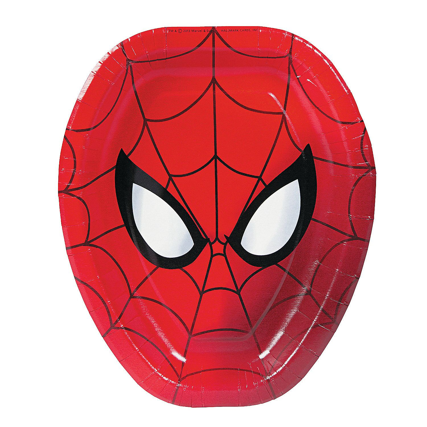Ultimate Spider Man Shaped Dinner Plates OrientalTrading