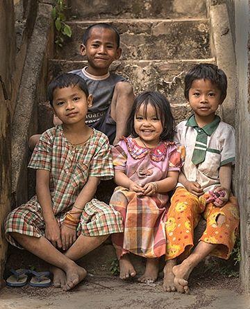 Kids in Myanmar