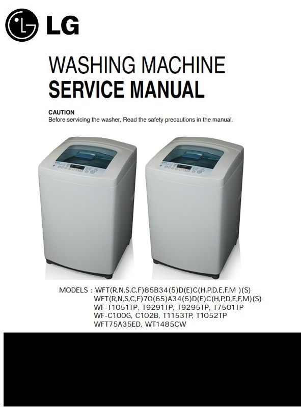 lg wt1485cw original service manual and repair guide lg washing rh pinterest com lg washer troubleshooting manual lg washer wm2016cw repair manual