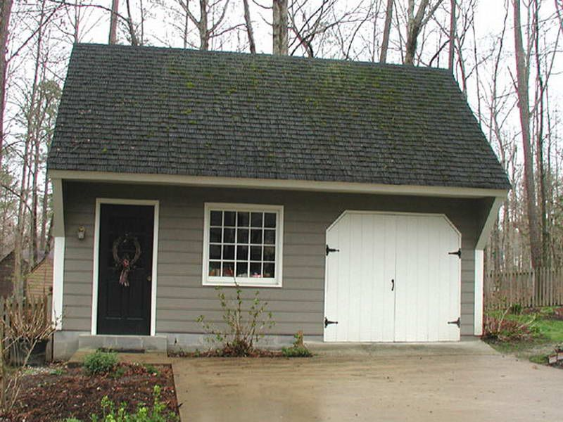 Garage plans free with single white door interior design for Carriage garage plans